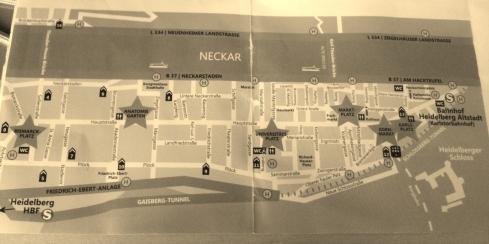 Plan de la ville avec les marchés