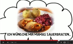 Vidéo Connexion-Française: mon repas de Noël allemand ou presque!